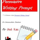 Writing Prompt: Genre Persuasive