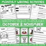 Writing Right Through...October & November