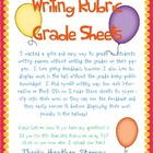 Writing Rubric Grade Sheets