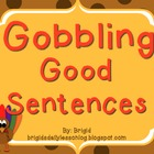 Writing Sentences Thanksgiving and Fall Theme -Naming and