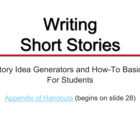 Narrative Writing: Short Stories - Presentation, Prompts,