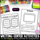 Writing Station Activities for Young Learners...Part 2