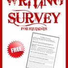 Writing Survey FREE