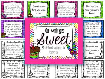 Writing Task Cards for centers or morning journal