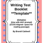 Writing Test Template- Use with any prompt!