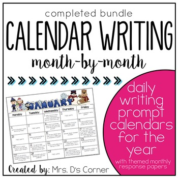 Writing Through the Year - Calendar Writing Prompts - Jour