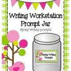 Writing Workstation Jar of Spring Writing Prompts