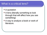Writing a Regents Critical Lens Essay with ROIL mnemonic -