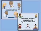 Writing and Reading Rubrics for Kindergarten Aligned with
