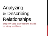 Writing expressions with story problems