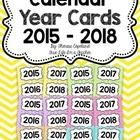 FREE Year Cards for Calendar {Chevron Brights}