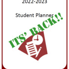 Year Long Student Planner 2014-2015