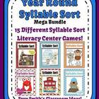 Year Round Syllable Sort Mega Bundle Center Games for Common Core