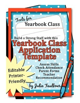 Yearbook Staff Application and Parent/Student Contract -Ed