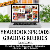 Yearbook Spreads & Pages Rubrics Pack for Grading, Evaluat
