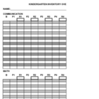 Yearly Kindergarten Assessment packet