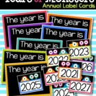 Years of Monsters Annual Label Cards