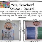 Yes, Teacher!  School Rules!