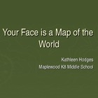 Your Face Is A Map of the World - Topographical Self-Portrait