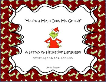 You're A Mean One, Mr. Grinch Figurative Language Unit