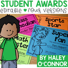 You're Great! Editable End of the Year Awards
