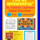 """You're Wonderful"" Digital Download of Song of Self Esteem"