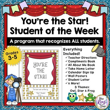 "Student of the Week {Full Year Program} ""You're the Star"""