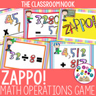 ZAPPO!  A Math Operations Review Game with Surprising Fun!