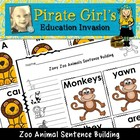 Zany Zoo Animals Sentence Building Activity