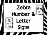 Zebra Alphabet & Numbers
