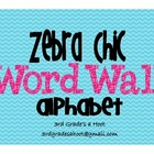 Zebra Chic Word Wall Alphabet