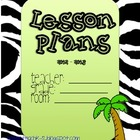 Zebra Classroom Binder Covers