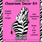Zebra Classroom Decor Kit - with Editable Files