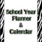 Zebra Design School Year Planner & Calendar (Blank Fill-in)