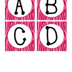 Zebra Print Desk Labels