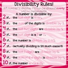 Zebra Print Divisibility Rules Poster