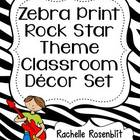 Zebra Print Rock Star Theme Classroom Decor Set
