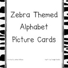 Zebra Themed Alphabet Cards