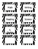 Zebra Themed Cards