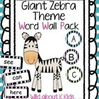Zebra Word Wall Pack