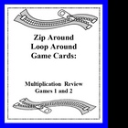 Zip Around Loop Around Multiplication Review Games - Card