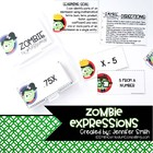 Zombie Expressions Review Game- Matching Word & Standard F