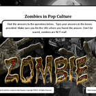 Zombies in Pop Culture Online Web Search