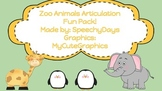 Zoo Animals Articulation Fun Pack!