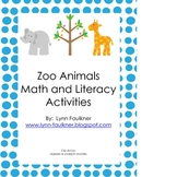 Zoo Animals Math and Literacy Activities