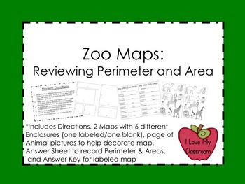 Zoo Maps: Review Perimeter and Area