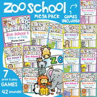 Zoo School Mega Pack - 7 Phonics Literacy Games