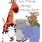 Zoo Themed Literacy Activity Book