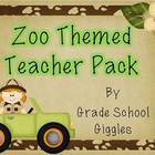 Zoo Themed Teacher Organization Pack
