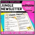 Zoo or Jungle Themed Newsletter Template